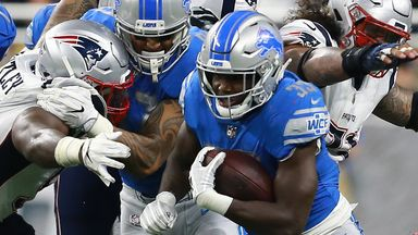 Kerryon Johnson was Detroit's first 100-yard rusher for 71 games