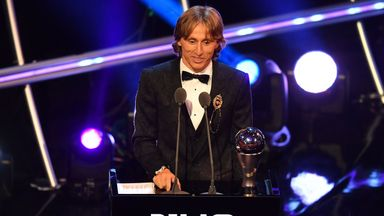 Luka Modric beat Cristiano Ronaldo and Mohamed Salah to the award