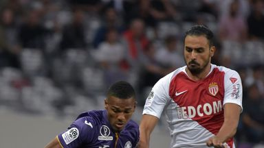 Monaco were held to a draw by Toulouse in Ligue 1
