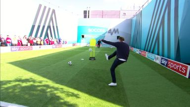 fifa live scores - Paul Merson takes on the Soccer AM volley challenge