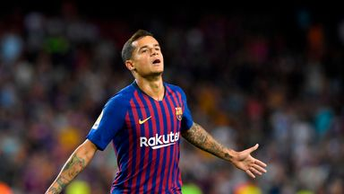 Philippe Coutinho has been out for a fortnight with a thigh problem