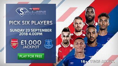 fifa live scores -                               Arsenal v Everton: Fantasy six-a-side