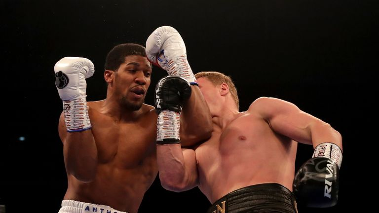 Povetkin stunned Joshua with an early attack