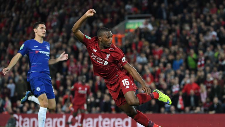 Daniel Sturridge misses a gilt-edged chance to open the scoring
