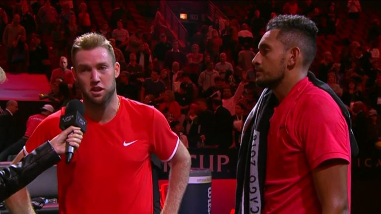 Sock and Kyrgios said Anderson's win gave them the momentum