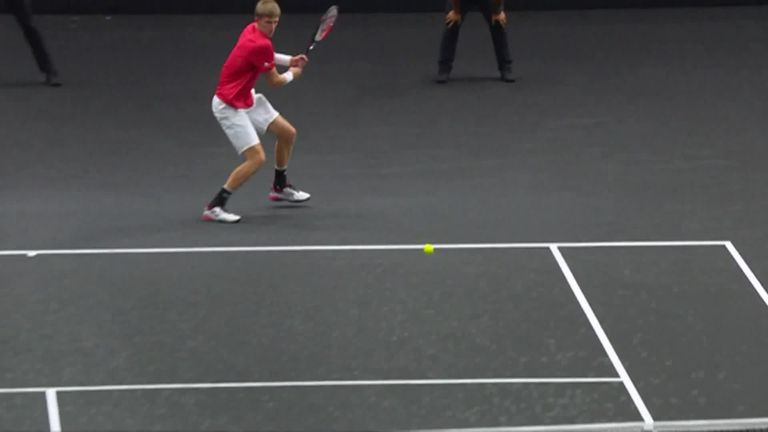 Highlights of Kevin Anderson's incredible win against Novak Djokovic at the Laver Cup