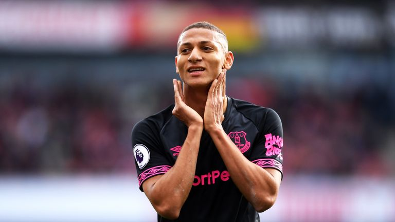 Richarlison reacts to a missed opportunity
