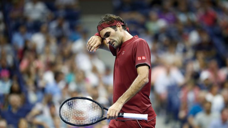 Roger Federer was beaten in four sets by John Millman in round four of the US Open