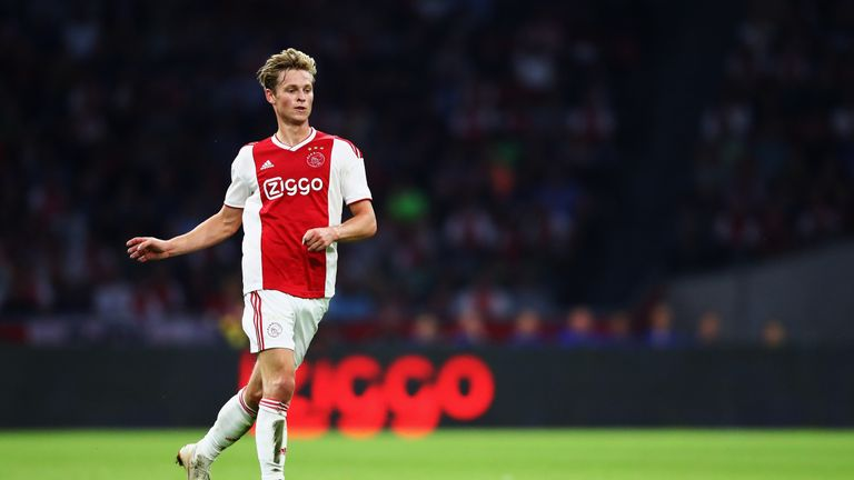 Ajax's Frenkie de Jong remains a long-term target of Barcelona