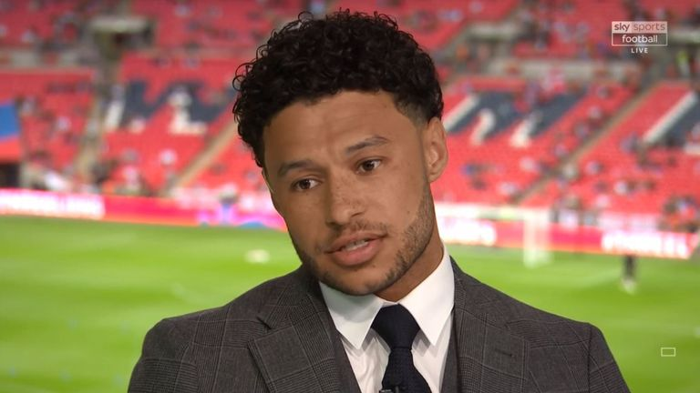 Alex Oxlade-Chamberlain was a special guest on Sky Sports' coverage of England v Spain