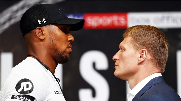 Anthony Joshua faces Alexander Povetkin at Wembley on September 22, live on Sky Sports Box Office