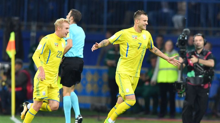West Ham winger Andriy Yarmolenko scored the winner in Ukraine's last Nations League game