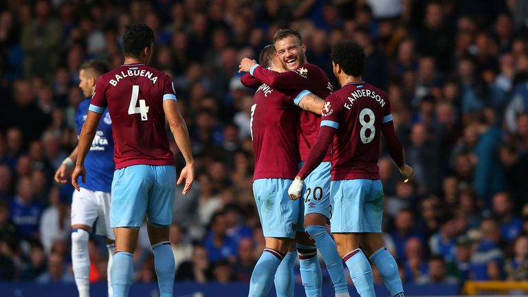 West Ham's front three impressed against Everton