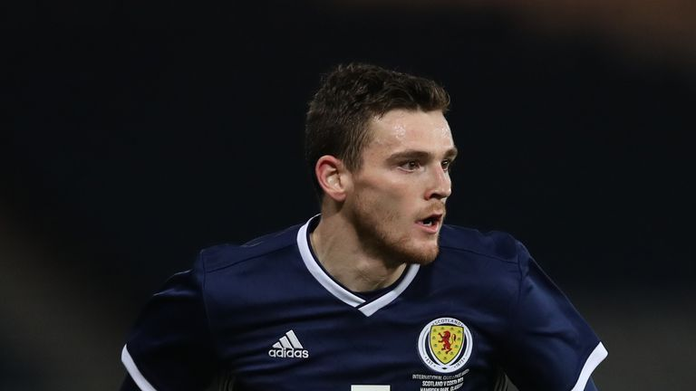 Andy Robertson has 22 caps for Scotland