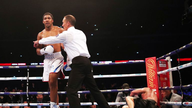 Joshua floored and stopped Povetkin in the seventh