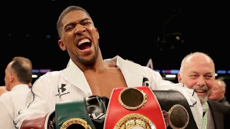 Joshua is expected to defend his WBA 'super' IBF and WBO belts in America