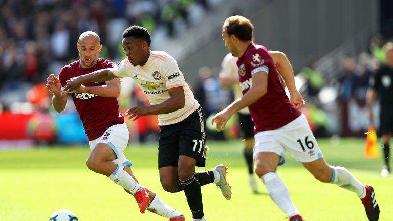 Anthony Martial has been unable to establish himself in the first-team so far this season.