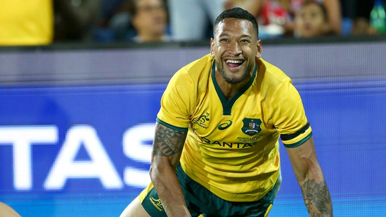 Israel Folau returns to the wing for Australia against Wales