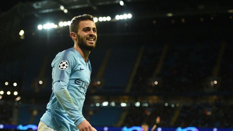 Bernardo Silva Man City v Lyon