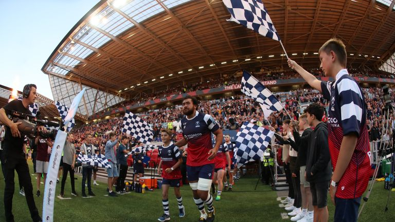 A huge crowd welcomes Bristol's return to the Premiership stage against Bath at Ashton Gate