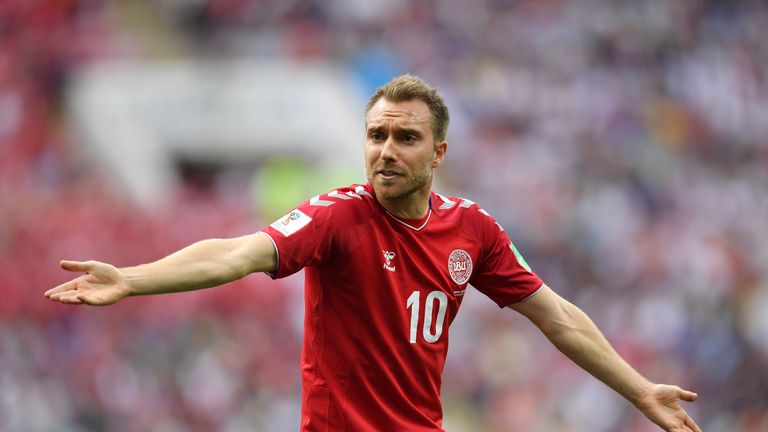 Christian Eriksen helped Denmark reach the last 16 at the 2018 World Cup