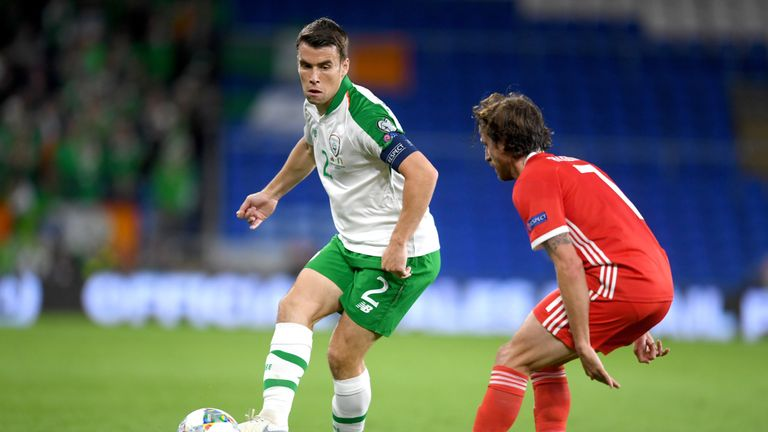 Seamus Coleman has a stress fracture in his foot and could be out for two weeks