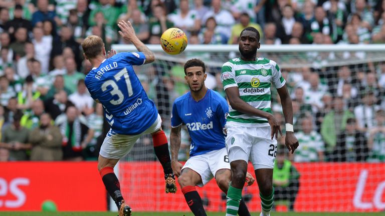 Connor Goldson made his Old Firm debut on Sunday