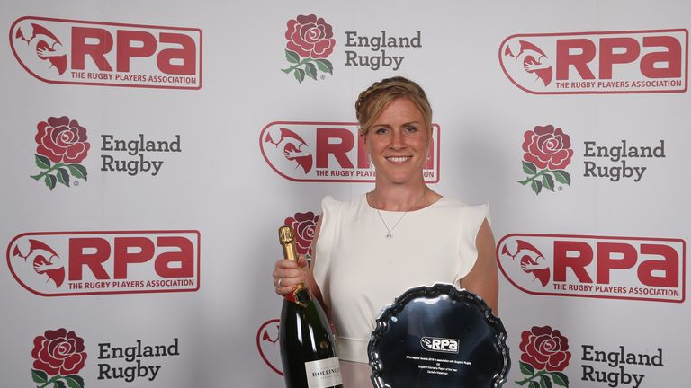 The 33-year-old was crowned the RPA's England Women's Player of the Year for 2017