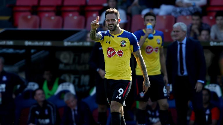 Danny Ings during the Premier League match between Crystal Palace and Southampton FC at Selhurst Park on September 1, 2018 in London, United Kingdom.