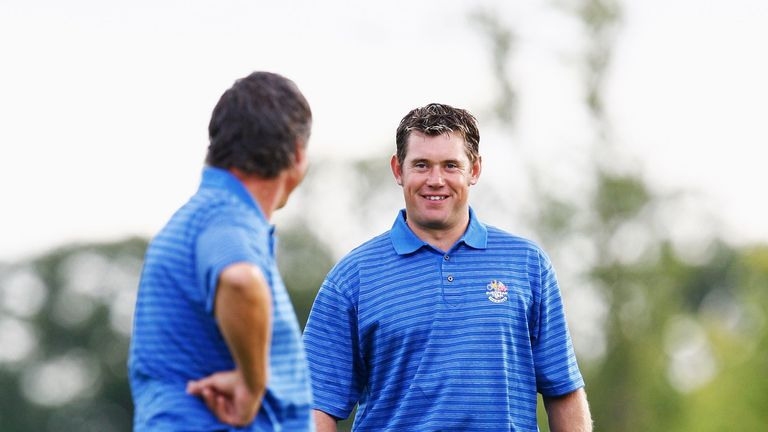 Westwood (right) has played in 10 Ryder Cup teams