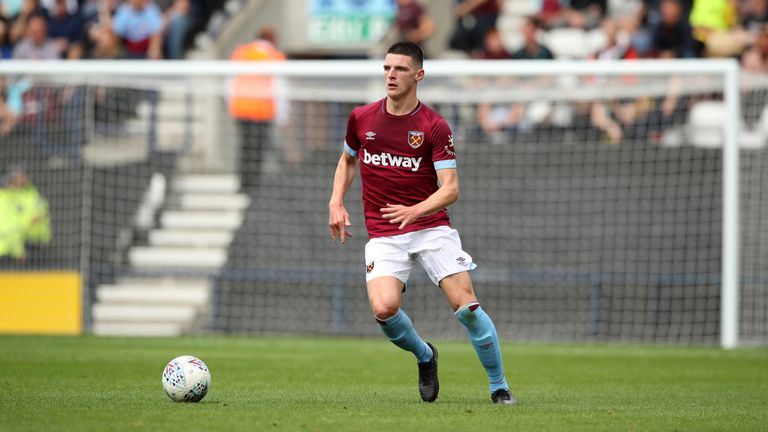 Declan Rice is yet to sign a new contract at West Ham despite being in talks since April