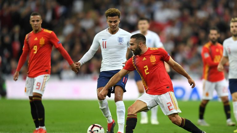 Dele Alli suffered a minor injury against Spain on Saturday