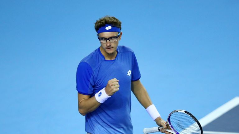 Istomin used all his experience to stay alive in the opening rubber before faltering at the last