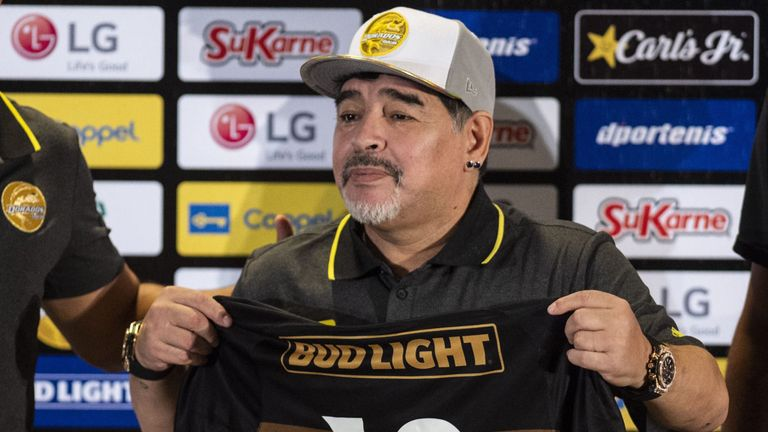 Argentina legend Diego Maradona says Lionel Messi is not a football god