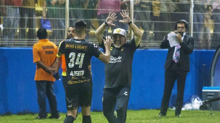 Maradona took over at struggling Dorados de Sinaloa in September