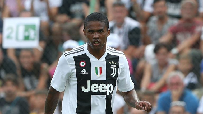Douglas Costa was sent off in added time of Sunday's clash with Sassuolo