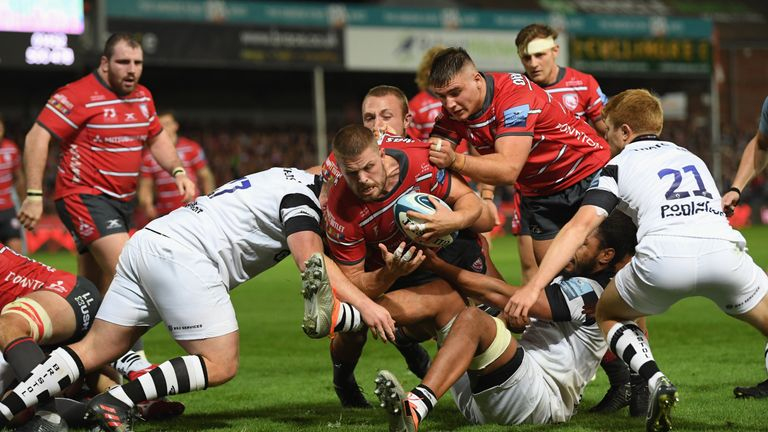 Ed Slater scored one Gloucester's five tries at Kingsholm