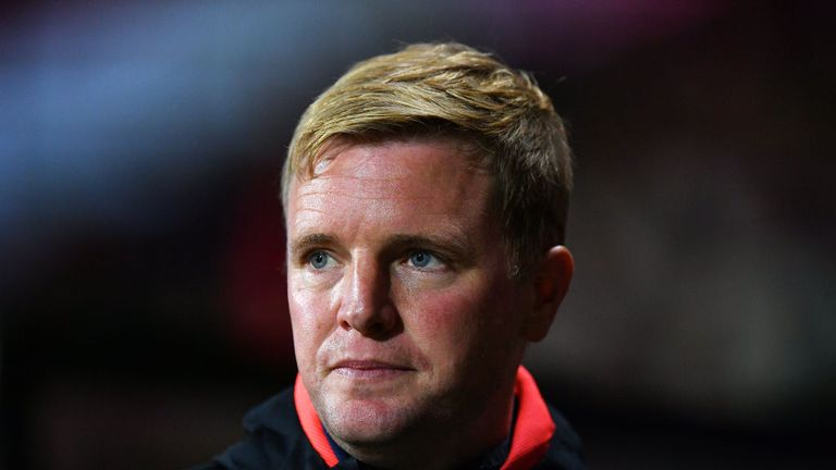 BOURNEMOUTH, ENGLAND - SEPTEMBER 25: Eddie Howe, Manager of AFC Bournemouth looks on prior to the Carabao Cup Third Round match between AFC Bournemouth and Blackburn Rovers at Vitality Stadium on September 25, 2018 in Bournemouth, England. (Photo by Dan Mullan/Getty Images)