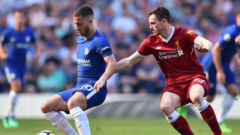Robertson came up against Hazard at Stamford Bridge last season