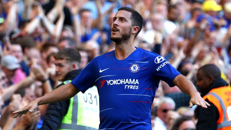 Hazard hat-trick helps Chelsea see off early Cardiff scare