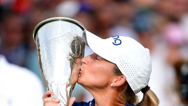 Angela Stanford won her first major title, aged 40, at the Evian Championship