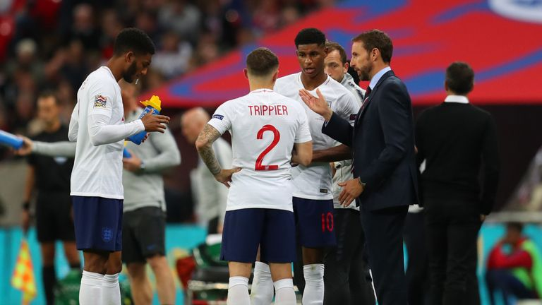 Gareth Southgate issues instructions during England's defeat by Spain