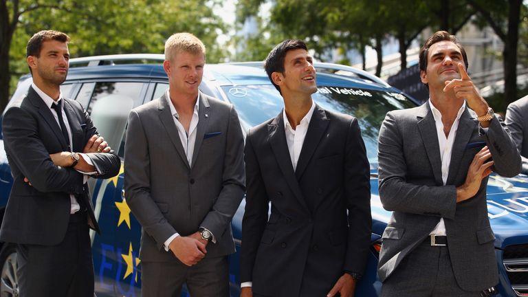 Grigor Dimitrov, Kyle Edmund, Novak Djokovic and Roger Federer will all play for Team Europe on Friday