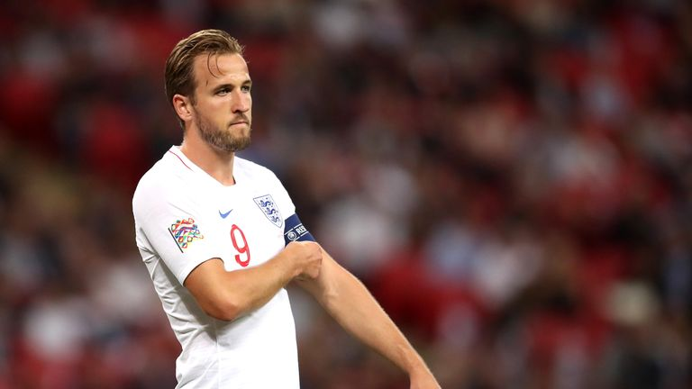 Harry Kane has not scored for England in six games