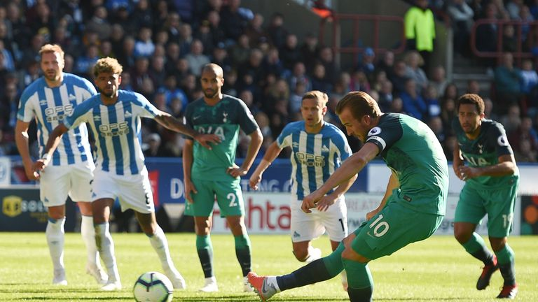 Harry Kane doubles Tottenham's lead from the penalty spot