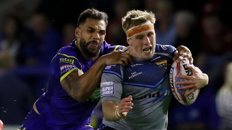 Adam O'Brien (right) has signed a contract extension at Huddersfield Giants