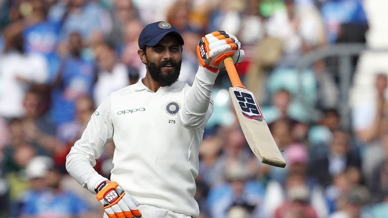 Ravindra Jadeja hit an unbeaten 86 to keep India in contention