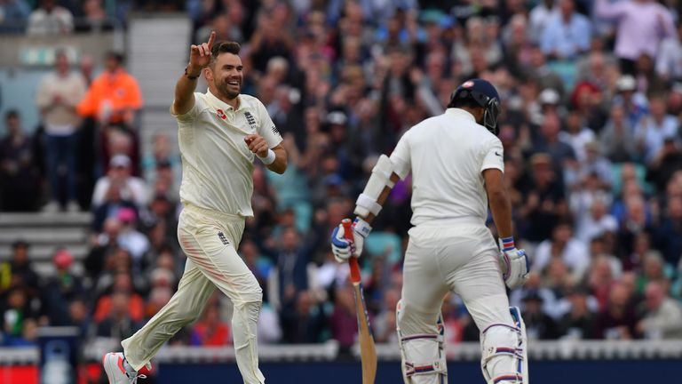 James Anderson took 24 wickets in five Tests against India
