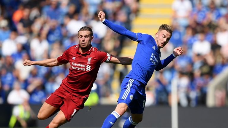 James Maddison (right) ran the show for Leicester against Liverpool, according to Jamie Redknapp