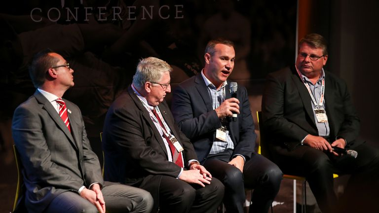 Jason Moore's (far right) organisation Moore Sports International have missed payments to the NZRL and RFL